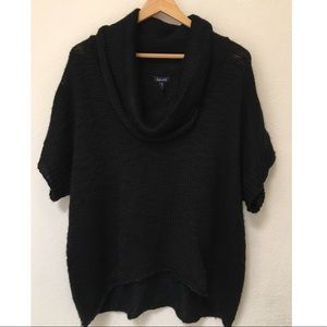 Splendid Black Short Sleeve Relaxed Knit Sweater